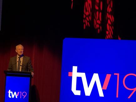 Auckland Mayor Phil Goff at the launch of #techweek19: Technology and innovation are critical to the future of Auckland... where roughly half of the IT workforce is based