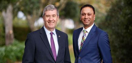 Toyota NZ CEO and managing director Alistair Davis and Neeraj Lala