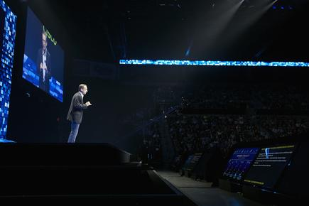Pat Gelsinger at VMworld 2018 in Las Vegas