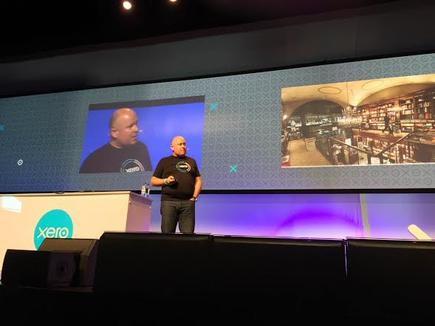 Andy Lark at the 2015 Xerocon in Auckland