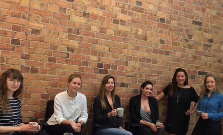 Kiwi women tech leaders: Alex Garkavenko of Dexibit, Amelia Gain of Preno, Alyona Medelyan of Thematic, Gemma Hurst of PageProof, Miriana Lowrie of 1Centre and Angie Judge of Dexibit