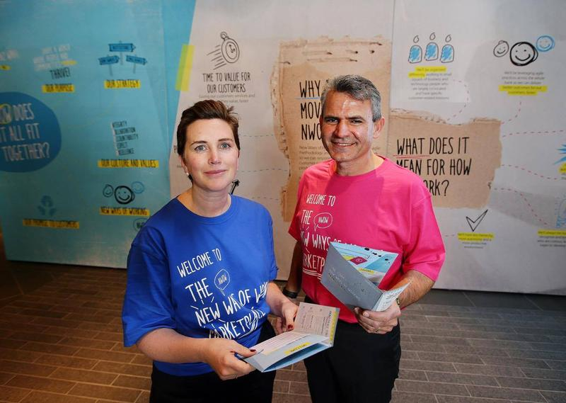 Katherine Bray and Gerard Florian at the NWOW marketplace event last week