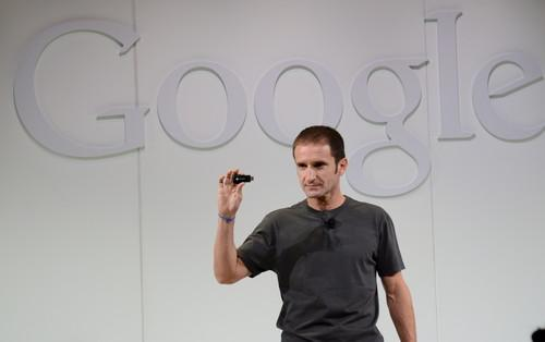 Mario Queiroz, VP of product management at Google, demos the company's new Chromecast streaming device.