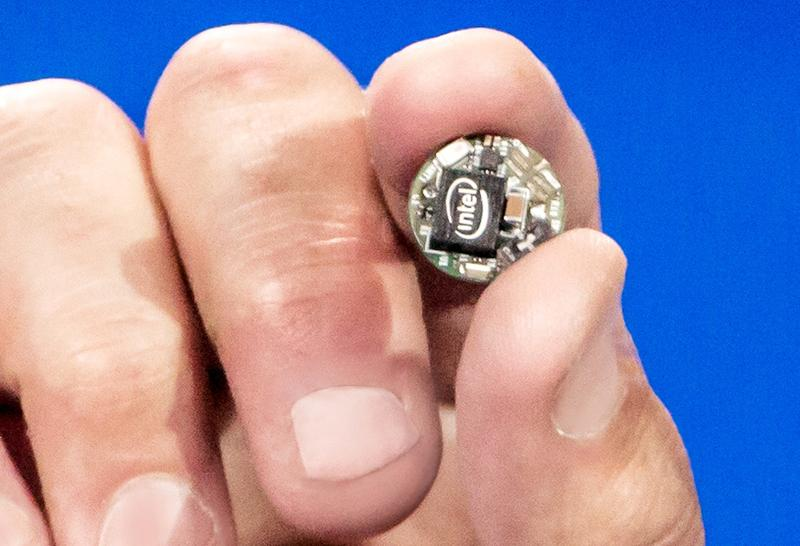 Intel's 'Curie' module, designed for wearables.