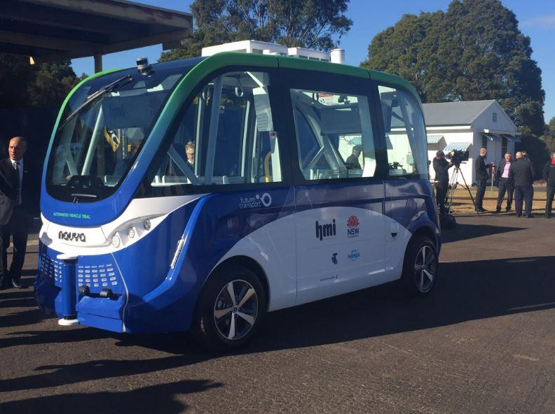 The Driverless Vehicle Being Trialled Near Sydney Olympic Park