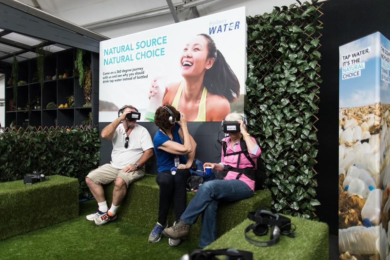 Sydney Water's virtual reality experience at the Easter Show