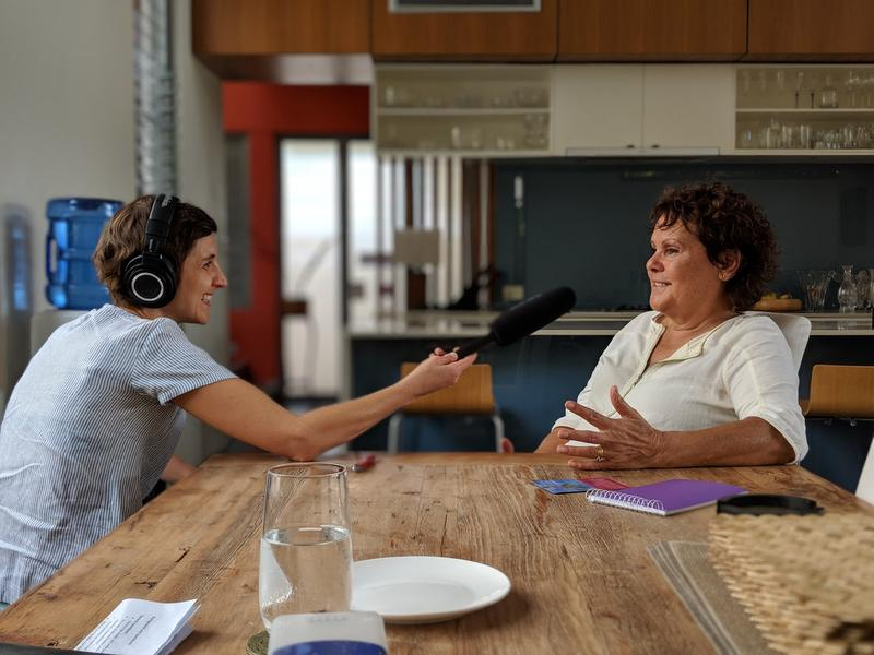 Evonne Goolangong Cawley is interviewed for the Google Assistant