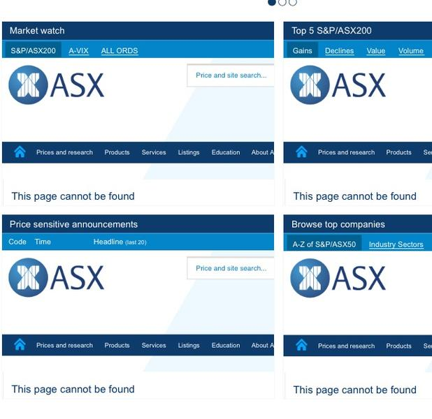 The ASX website was unavailable for nearly three hours last night, delaying company announcements