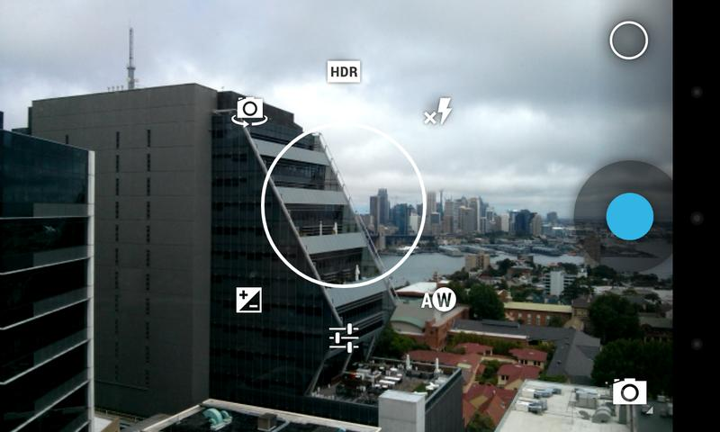 The new photo menu is quick to access, but it is easy to accidentally select the wrong setting.