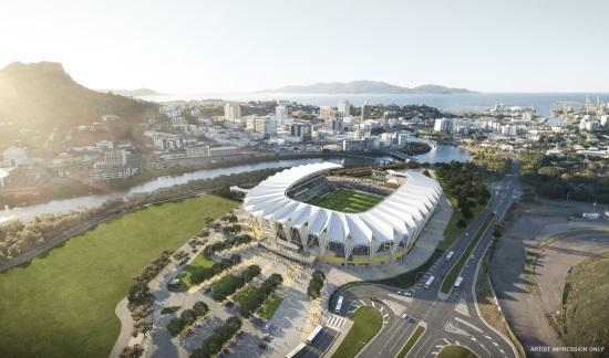 Artist impression of the new stadium