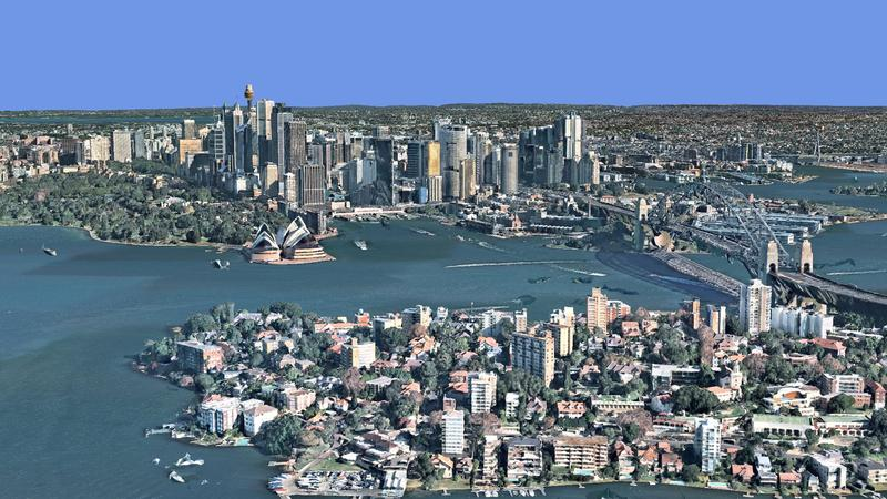 Nearmap 3D view of Sydney