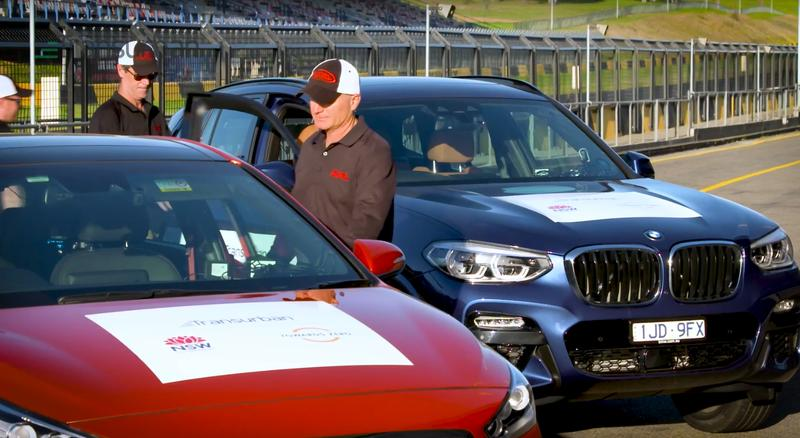 The NSW trial vehicles were tested on a track ahead of the public road trial.