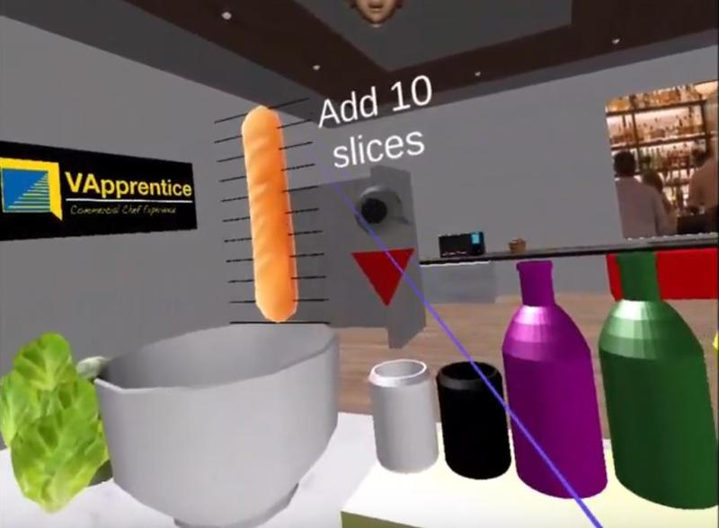 The VApprentice 'Chef Experience' app