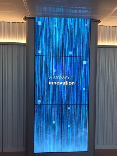 Digital waterfall at PwC Sydney